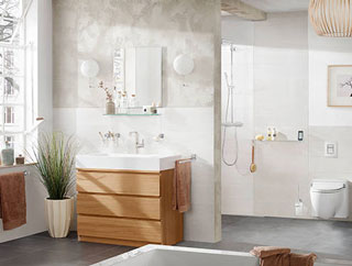 Spacious Bathroom with Natural Light
