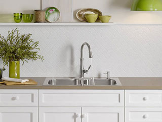 Cupboard Sink and Tap Combo