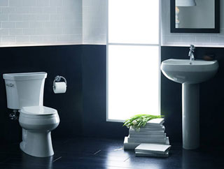 Two Tone Bathroom