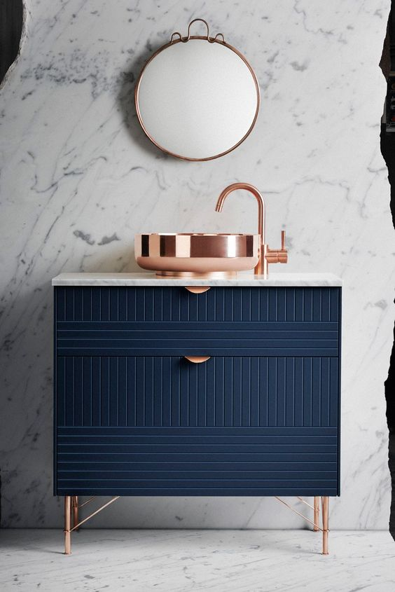 decorating with copper fixtures