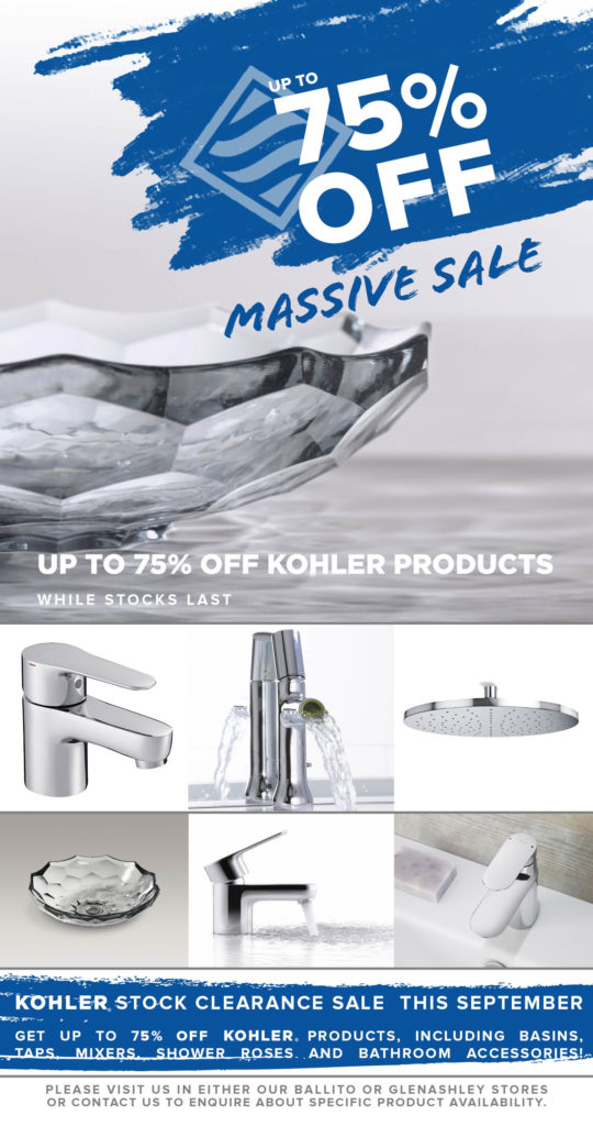 Richmond Plumbing and Sanware Kohler clearance sale