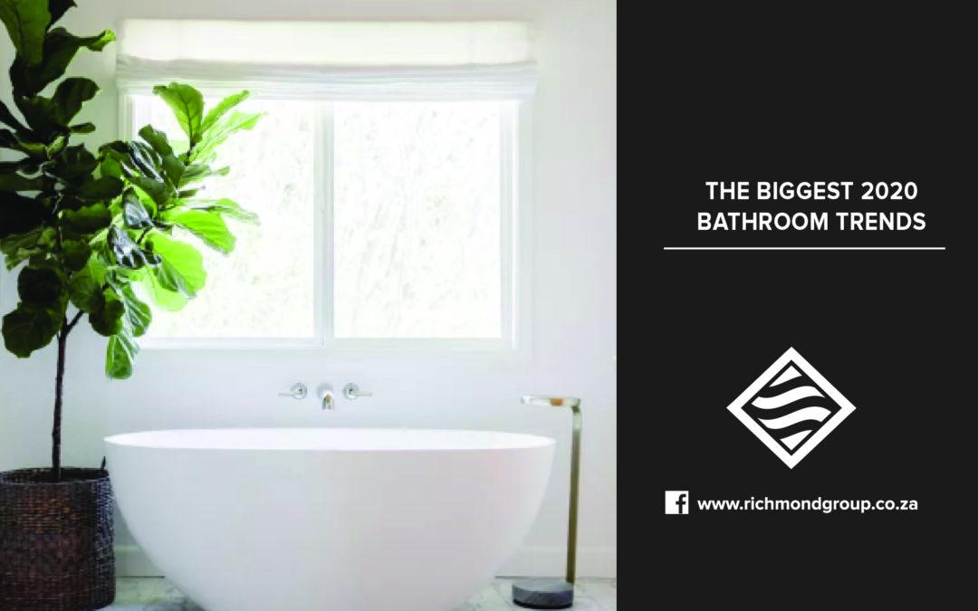 The Biggest 2020 Bathroom Trends