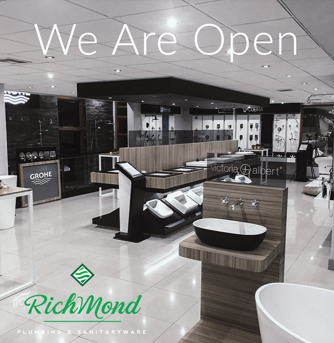Our showrooms in Glenashley & Ballito are open for DIY and home renovations.