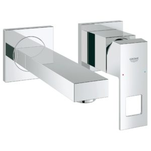 Grohe - Eurocube Single Lever Basin Mixer Wall Mounted Chrome