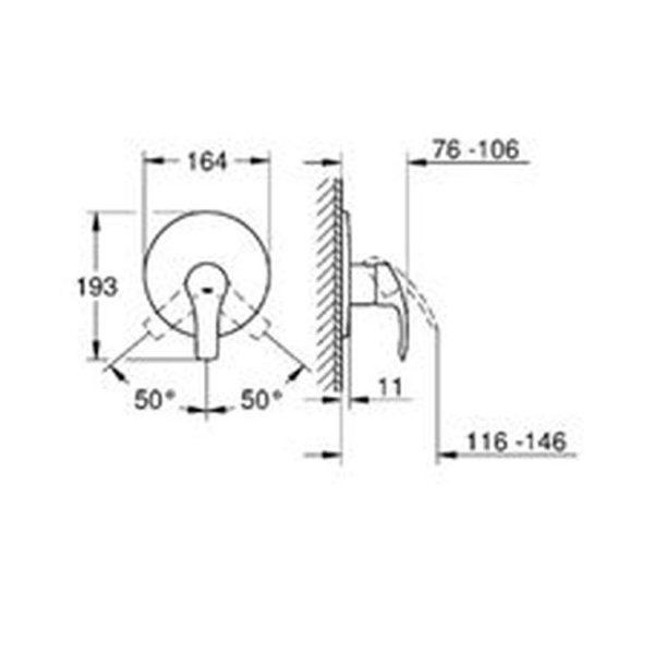 GROHE EUROSMART SINGLE-LEVER SHOWER MIXER, CHROME